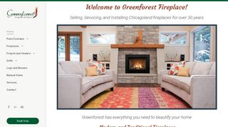 Green Forest Fireplace
